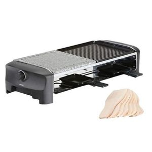 Plita Grill/Raclette electrica Princess 0116282001001, 1200 W, 42 x 21 cm, temperatura 225°C (Negru/Gri) imagine