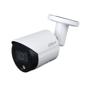 Camera supraveghere exterior IP Dahua Full Color IPC-HFW2239S-SA-LED-0280B-S2, 2 MP, 2.8 mm, lumina alba, slot card, microfon imagine