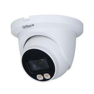 Camera supraveghere IP Dome Dahua Full Color WizSense IPC-HDW3549TM-AS-LED-0280B, 5 MP, 2.8 mm, lumina alba, microfon, slot card imagine