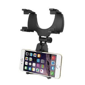 Suport pentru telefon cu oglindă retrovizoare auto Suport pentru telefon mobil reglabil la 360 de grade +CADOU imagine