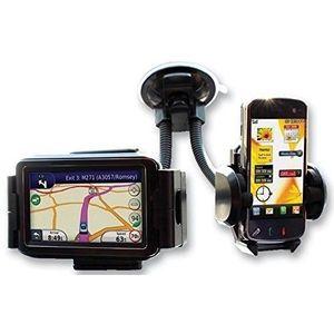 Suport auto pentru telefon dublu pentru telefon si GPS+CADOU imagine