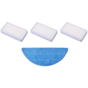 Set de filtre HEPA și textil pentru șters pentru Tesla RoboStar T10/T30/T40 imagine