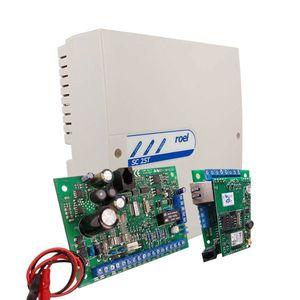 Centrala alarma antiefractie Cerber C52 cu comunicator IP/GPRS si carcasa cu traf, 2 partitii, 5 zone, 2 PGM imagine