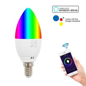 Bec Smart Techstar®, Wireless, 2.4GHz, RGBW, 4W, E14, Lumina Calda, Lumina Rece, Corp Aluminiu imagine
