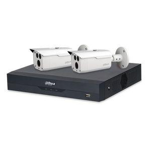 Sistem supraveghere exterior basic Dahua WizSense DH-B2EXT80-2MP, 2 camere, 2 MP, IR 80 m, POS, IoT imagine