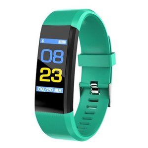 "Bratara Smart Fitness Techstar® ID115 Plus Fitness, 0, 95"""" OLED, BT4.0, Waterproof IP65, Verde imagine"