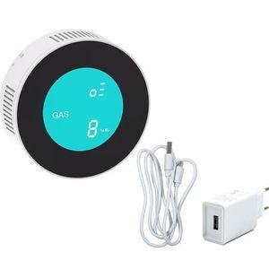 Senzor de gaz wireless PNI SafeHouse HS110, compatibil cu sisteme de alarma wireless (Alb) imagine