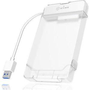 Adaptor Cablu USB 3.0 RaidSonic IcyBox IB-AC703-U3, pentru HDD/SSD 2.5inch (Alb) imagine