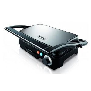 Gratar electric Taurus Grill & Co Legend, 1500W, Termostat, Placi antiaderente, Deschidere 180º (Inox) imagine
