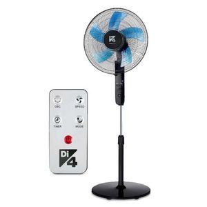 Ventilator cu picior Daga Di4 Aria Silence Control 40, 45 W, 40 cm, telecomanda, debit aer 61 m3/min, 3 viteze, 3 moduri de functionare, miscare oscilatorie, picior reglabil 1.28 m (Negru) imagine