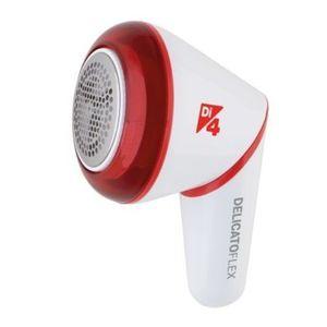Aparat de curatare scame Daga Di4 Delicato Flex, 2.4 V, acumulator, cutit inox, cap rabatabil, reglarea inaltimii de taiere, autonomie 60 min, incarcare USB (Alb/Rosu) imagine