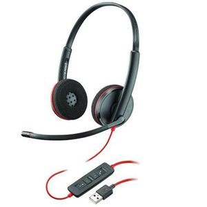 Casca Call Center Plantronics Blackwire C3220, USB-A, Binaural (Negru) imagine