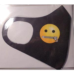 Masca protectie Emoji fermoar la gura, Reutilizabila + cadou imagine