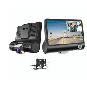 "Camera Video Auto Tripla Blackbox, Full-HD, 3 Camere - Fata/Spate/Interior, Display 4"""", G Senzor, 170 Grade imagine"