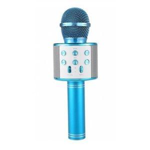 Microfon Karaoke Wireless, Albastru imagine