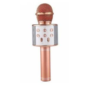 Microfon Karaoke Wireless, Rose Gold imagine