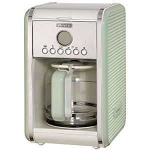 Cafetiera Ariete Vintage 1342, 4-12 cesti, Display LCD (Crem/Verde) imagine