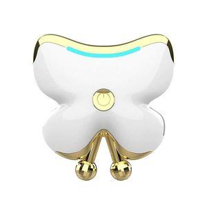 Aparat de masaj facial Techstar® VMF109, Cu incalzire la 45ºC, Design Modern, Acumulator Incorporat, Alb imagine