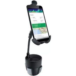 Suport Auto Isound ISOUND-6395 cu pahar, Rotatie 360 grade, pentru telefoane pana la 6.5inch (Negru) imagine