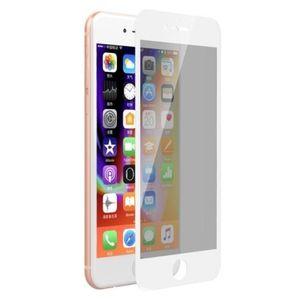 Folie Protectie Sticla Temperata Devia Privacy Full pentru Apple iPhone 8 / 7 (Transparent/Alb) imagine