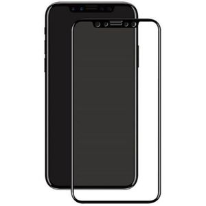 Folie Protectie Sticla Temperata Eiger 3D Edge to Edge EGSP00126 pentru Apple iPhone X (Negru/Transparent) imagine