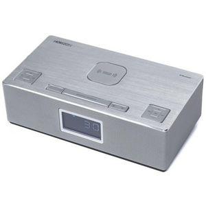 Radio cu ceas Horizon HAV-P4200, 6 W, Bluetooth, USB, AUX, Radio FM (Argintiu) imagine