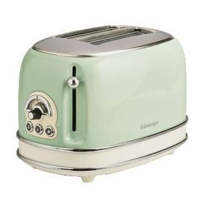 Prajitor de paine Ariete 0155CR/GR, 810 W, 2 Felii (Verde) imagine
