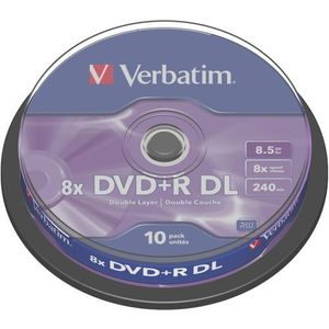 Blank DVD+R Double Layer, Spindle 10 imagine