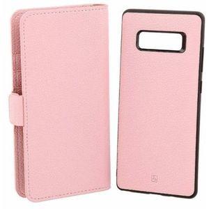 Husa Book Cover Just Must Car Wallet pentru Samsung Galaxy Note 8 (Roz) imagine