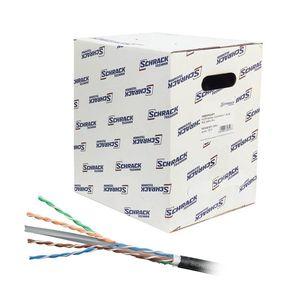 Cablu UTP CAT6 Schrack HSEKU423E3, 4x2xAWG23/1, PE exterior, 305 m imagine