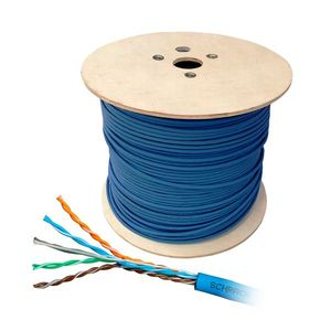 Cablu UTP CAT6 Schrack HSKU4233B5, 4x2xAWG24/1, 300MHz, LS0H-3-25, B2ca, 500 m imagine
