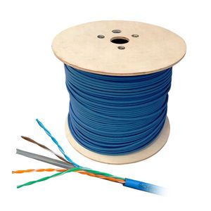 Cablu UTP CAT6 Schrack HSKU423P15, 4x2xAWG23/1, 300MHz, PVC, Eca, 500 m imagine
