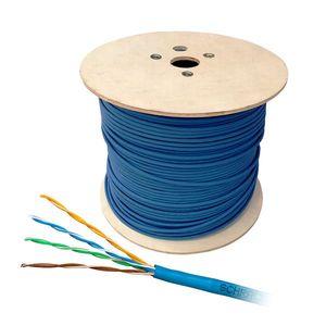Cablu UTP CAT6 Schrack HSKU423BB5, 4x2xAWG24/1, 300MHz, LS0H, B2ca, 500 m imagine