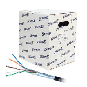 Cablu F/UTP CAT.5E Schrack HSEKF424E3, 4x2xAWG24/1, PE (exterior), 305 m imagine