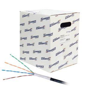 Cablu U/UTP CAT.5E Schrack HSEKU424E3, 4x2xAWG24/1, PE (exterior), 305 m imagine