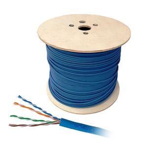 Cablu U/UTP CAT.5E Schrack HSEKU424PB, 4x2xAWG24/1, PVC, Eca, 500 m imagine