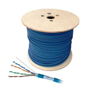 Cablu F/UTP CAT.5E Schrack HSKF424PP1, 4x2xAWG24/1, PVC, Eca, 1000 m imagine