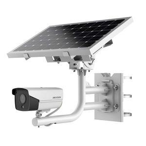 Sistem supraveghere GSM 4G de exterior Hikvision DS-2XS6A25G0-I/CH20S40 cu panou solar, 2 MP, IR 30 m, 2.8 mm, slot card imagine
