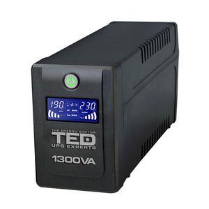 UPS cu 4 prize TED DZ088392, 1300 VA, 750 W, LCD imagine