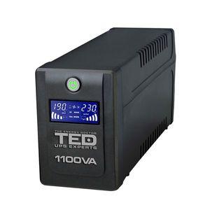 UPS cu 4 prize TED DZ088391, 1100 VA, 600 W, LCD imagine