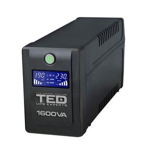 UPS cu 4 prize TED DZ088393, 1600 VA, 900 W, LCD imagine