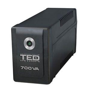 UPS cu 2 prize TED A0061427, 700VA, 400 W, LED imagine