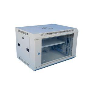 Cabinet rack metalic 19 inch WMF18U-600, geam securizat, greutate sustinuta 60 kg, 18U imagine