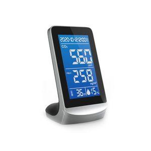 Senzor pentru detectarea calitatii aerului ZKTeco AQD-V43B, CO2, PM2.5/1.0/10, temperatura, umiditate, plug and play imagine