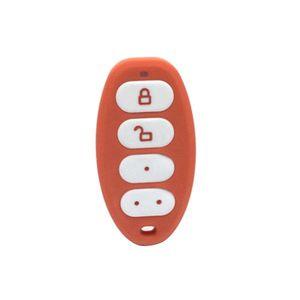 Telecomanda cu 4 butoane Eldes EWK3-CORAL, 8 functii, RF 1700 m, LED, buzzer, rosu imagine