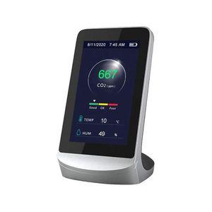 Senzor pentru detectarea calitatii aerului ZKTeco AQD-V43, CO2, temperatura, umiditate, plug and play imagine