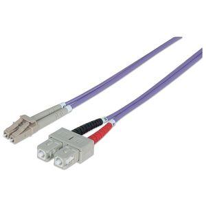 Intellinet 750936 cabluri din fibră optică 3 m LC SC OM4 750936 imagine
