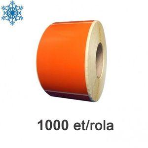 Role etichete semilucioase ZINTA 100x150mm pentru congelate portocalii 1000 et./rola imagine