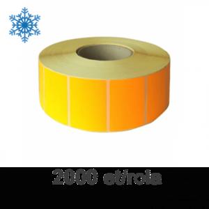 Role etichete semilucioase ZINTA 100x70mm pentru congelate portocalii 2000 et./rola imagine