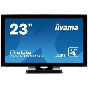 Monitor POS touchscreen iiyama ProLite T2336MSC 23 inch PCAP negru imagine